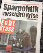 Echt krass - Sparpolitik-Krise small